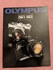 Olympus Om-1 & Om-2 Slr 35mm Camera Brochure -Olympus Om1 Om2, 22 Pages, Vg Cond