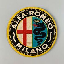 RARE VINTAGE Alfa Romeo Milano Emblem Cardboard Beer Mat Coaster Collectable