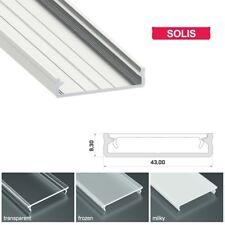 1M Wide Aluminium Architectural Profile White Black Channel For LED Strip Light