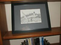 Boothbay Harbor Signed/numbered Print by Consuelo Eames Hanks matted and framed