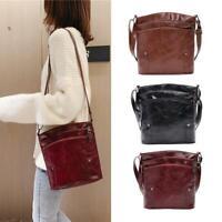 Women Leather Shopping Messenger Bag Satchel Mother Shoulder Crossbody Bag Purse