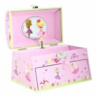 Fairy Tale Kids Musical Jewellery Box - Pink Glittery Kids Music Box with Bead -