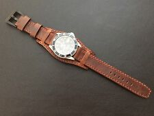 Real Leather Cuff Watch Strap | Cuff Watch Band-Fit for 19,20mm Lug Luxury Watch