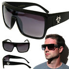 Retro Goggle Style Biohazard Large Shield Mens Celebrity Fashion Sunglasses