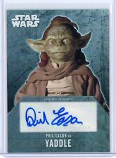 2016 Topps Star Wars Evolution PHIL EASON as YADDLE Autograph Auto