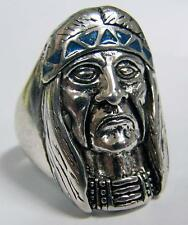 DELUXE OLD INDIAN HEAD BIKER SILVER BIKERS RING #88R Fashion new MENS WOMENS