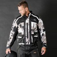 Men Motorcycling Jacket CAMO Waterproof Cordura Armours CE Protector Size Small