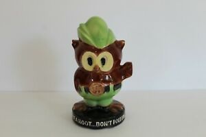 Rare McCoy Woody Owl Don't Pollute Coin Bank U.S. Forest Service Vintage