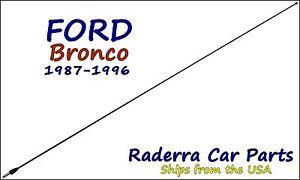 "1980-1996 Ford Bronco - 32"" Black Stainless AM FM Antenna Mast"