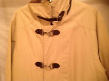 Nautica Canvas Field Barn Metal & leather Toggle Tan Coat Size: L Lined