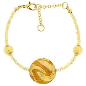 GlassOfVenice Murano Glass Royal Cognac Circle Bracelet
