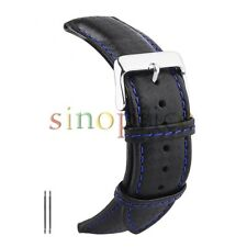 20mm Genuine Leather Watch Bracelet Watch Band With Stainless Steel Buckle