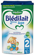 Baby powder milk french formula Bledilait2 : 6 to 12 month 900 Grams