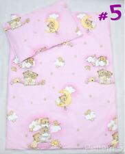 4 Piece Duvet / Pillow & Covers Crib Set Baby Bedding Fits Cradle/Pram - L Pink