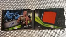 2017 tOPPS UFC kNOCKOUT gEORGES sT-PIERRE GSP rELIC aUTOGRAPH #/5 BOOK