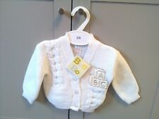 Bee Bo Baby White Knitted Cardigan, Age 3-6 Months, Brand New.
