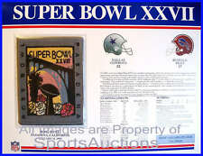 SUPER BOWL 27 Cowboys Bills 1993 Willabee Ward OFFICIAL SB XXVII NFL PATCH CARD