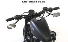 """StreetBar Lenker 1"""" schwarz mit ABE für Sportster, Iron, 48, Custom ..."""