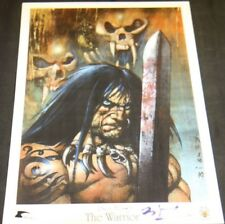 THE WARRIOR SIGNED PRINT BY SIMON BISLEY