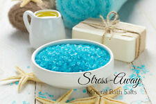 1kg STRESS AWAY Mineral Rich AROMATHERAPY BATH SALTS Essential Oils MAGNESIUM