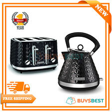 Morphy Richards Vector Pyramid 1.5L Kettle & 4 Slice Toaster Set Black