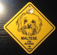12cm Roadsign Schild mit Saugnapf Maltese Malteser malti