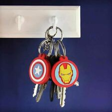 Marvel Avengers Key Covers | Set of 2 Iron Man and Captain America Key Covers