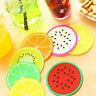 7stk Bunte Silikon Früchte Coaster Cup Cushion Untersetzer Getränk Tischset Mat