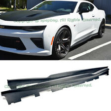 For 16-Up Chevy Camaro SS V8 R Style Carbon Fiber Side Skirts Extension Lip