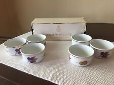 Royal Worcester Evesham GOLD Small Ramekins (6) W/Recipe Book