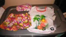 NWT GIRLS SUMMER OUTFIT SHORTS SHORT SLEEVE TOP & FLIP FLOP SET SZ 6 CLOTHES