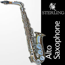 Silver Alto Sax • Brand New  STERLING Eb Saxophone • Case and Accessories •