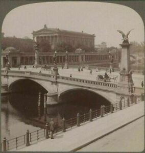 Berlin, Germany. The National Gallery From Across River Spree. c1903 Stereoview