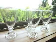 Collectible Vintage Clear Juice/Cordial Glasses w/Hobnail Bases, set of 4
