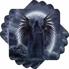 Gothic Angel Set Of 4 Bar Table Square Coasters