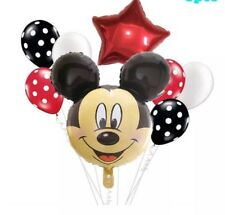 Mickey Mouse Disney 8 Balloon Party Bundle. Foil & Latex, Birthday, Reveal, Xmas