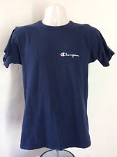 Vtg 90s Champion Products Logo T-Shirt Navy Blue S/M Made In Usa Brand