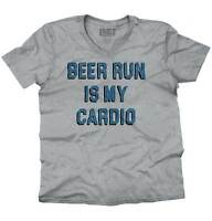 Beer Run Is My Cardio Funny Workout Gym Gift V-Neck Tees Shirts Tshirt T-Shirt