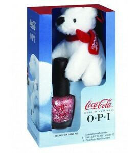 NEW!!! OPI Coca Cola Plush Bear and Bearest of Them All Lacquer Set Nail polish