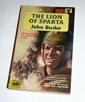 The Lion Of Sparta~John Burke~1961 Pan PB~1st Ed~1962 Movie~Richard Egan~VG