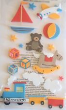 JOLEE'S BOUTIQUE LE GRANDE BABY TOYS FOAM Scrapbook Craft Stickers Dimensional