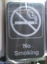 No Smoking Adhesive Door Sign Label Advertisement Information Symbol Cigarette