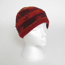 Funky Hand Knitted Winter Woollen Crazy Stitched Beanie Hat UNISEX CSB8