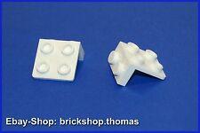 Lego 2 x  Halterung Platte Winkel weiß - 44728 - Bracket white - NEU / NEW