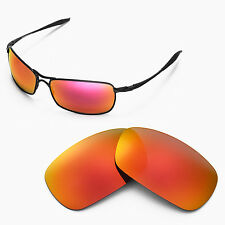 New Walleva Polarized Fire Red Lenses For Oakley Crosshair 2.0 (2010 version)
