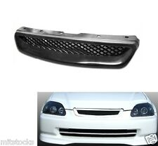 99-00 CIVIC 2 3 4 DOOR TYPE-R ABS BLACK FRONT HOOD MESH GRILL GRILLE 1999-2000