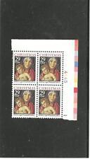 Usa Mnhog Plate Block 4 Sc#2710 Xmas Madonna With Child S-850