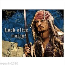 PIRATES of the CARIBBEAN INVITATIONS (8) ~ Birthday Party Supplies Stationary