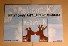 RELIENT K LET IT SNOW LET IT REINDEER BLUE 4X6 Mini Movie PHOTO POSTER POSTCARD