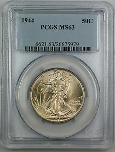 1944 Walking Liberty Silver Half Dollar, PCGS MS-63 *Better Coin* Lightly Toned